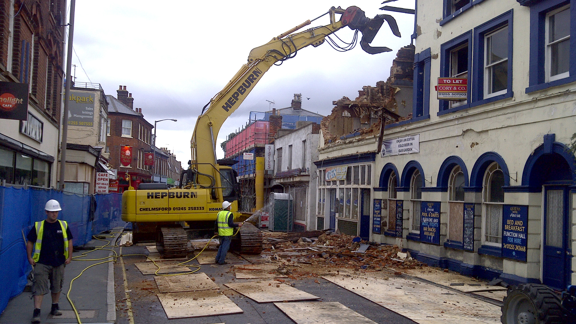 Queens Hotel, Dovercourt – fire damage clearance