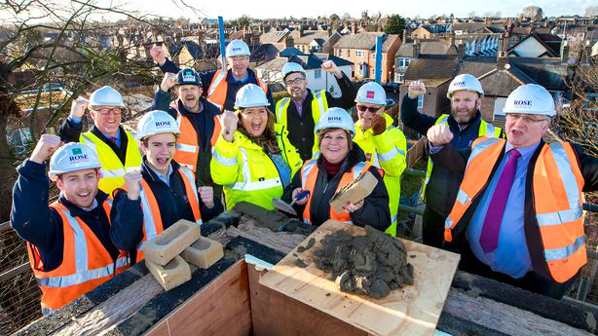 Topping out at Goldlay Gardens, Chelmsford