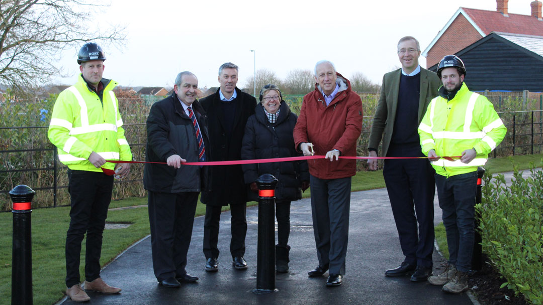 Footpath opening, Summers Park, Lawford