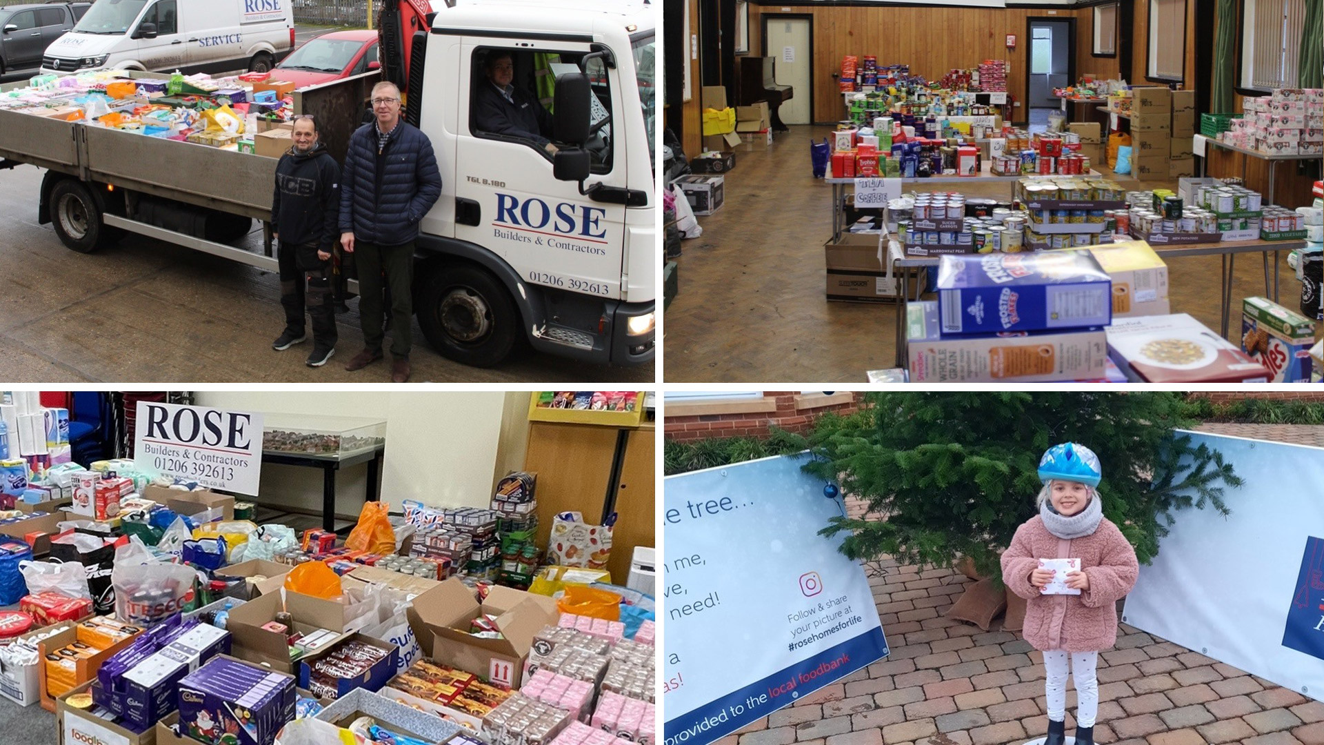 Rose Helps Support Local Foodbank